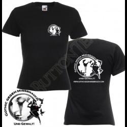 Lady-Shirt Gothic gegen...
