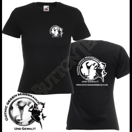 Lady-Shirt Gothic gegen Missbrauch