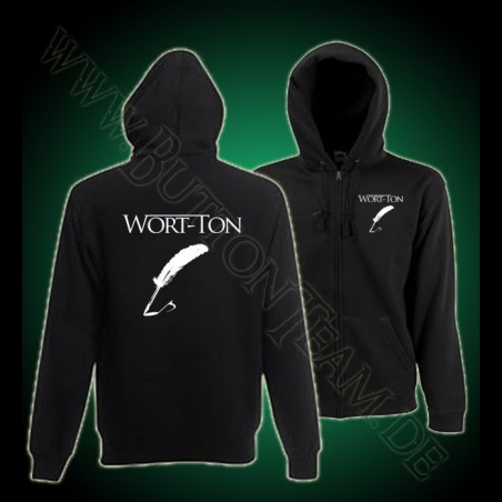 Wort-Ton Zip Hooded Sweat Jacke