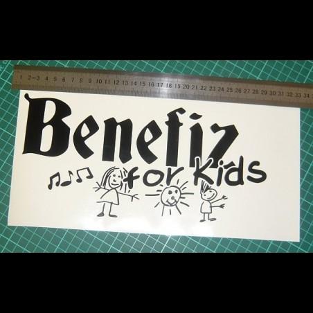 """Aufkleber """"Benefiz for Kids"""""""