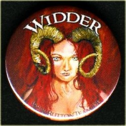 Button Widder Zodiak