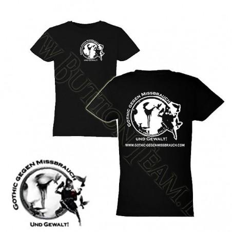 Girls T-Shirt Gothic gegen Missbrauch