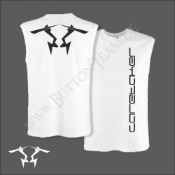 "White-Tank-Top Shirt  ""Caretaker"""