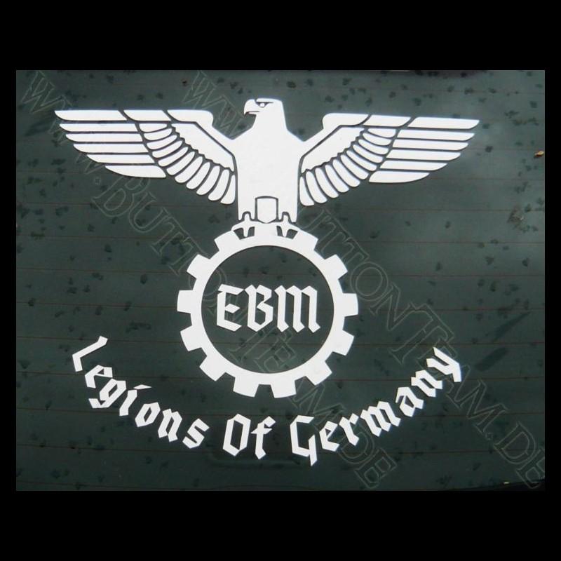 Auto Aufkleber Legions Of Germany Farbe Weiß Breite 25cm