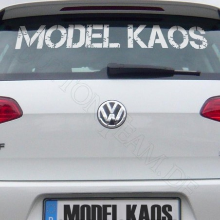 Heckscheibenaufkleber MODEL KAOS