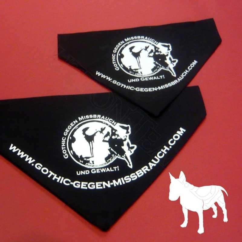 Hundehalstuch Gothic gegen Missbrauch