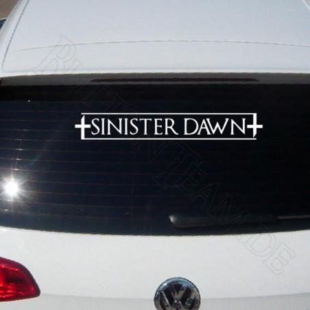 Sinister Dawn Heckscheibenaufkleber