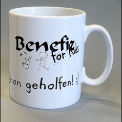 Tasse mit Logo Benefiz for Kids