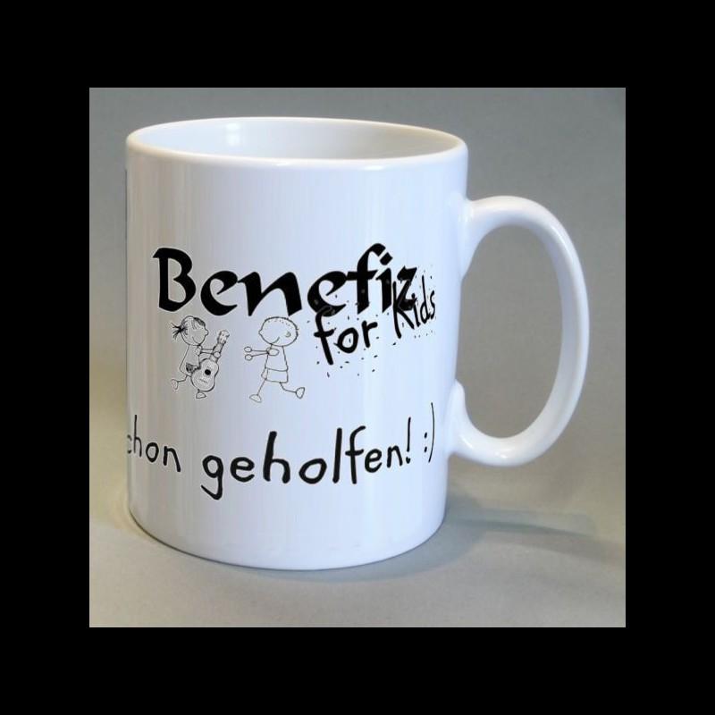 Tasse mit Logo Benefiz for Kids