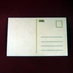 Holzpostkarte Rose 4