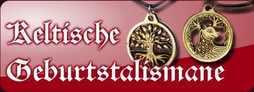 Keltische Sternzeichen: Holzamulette