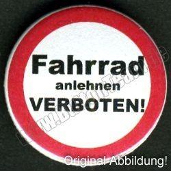 Fahrrad anlehnen verboten!
