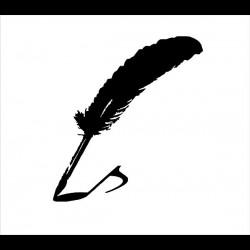 "Aufkleber Logo: ""Feder"""