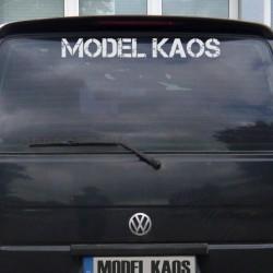 Heckscheibenufkleber MODEL KAOS