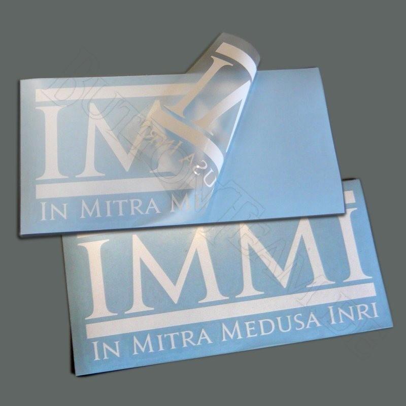 Aufkleber  In Mitra Medusa Inri
